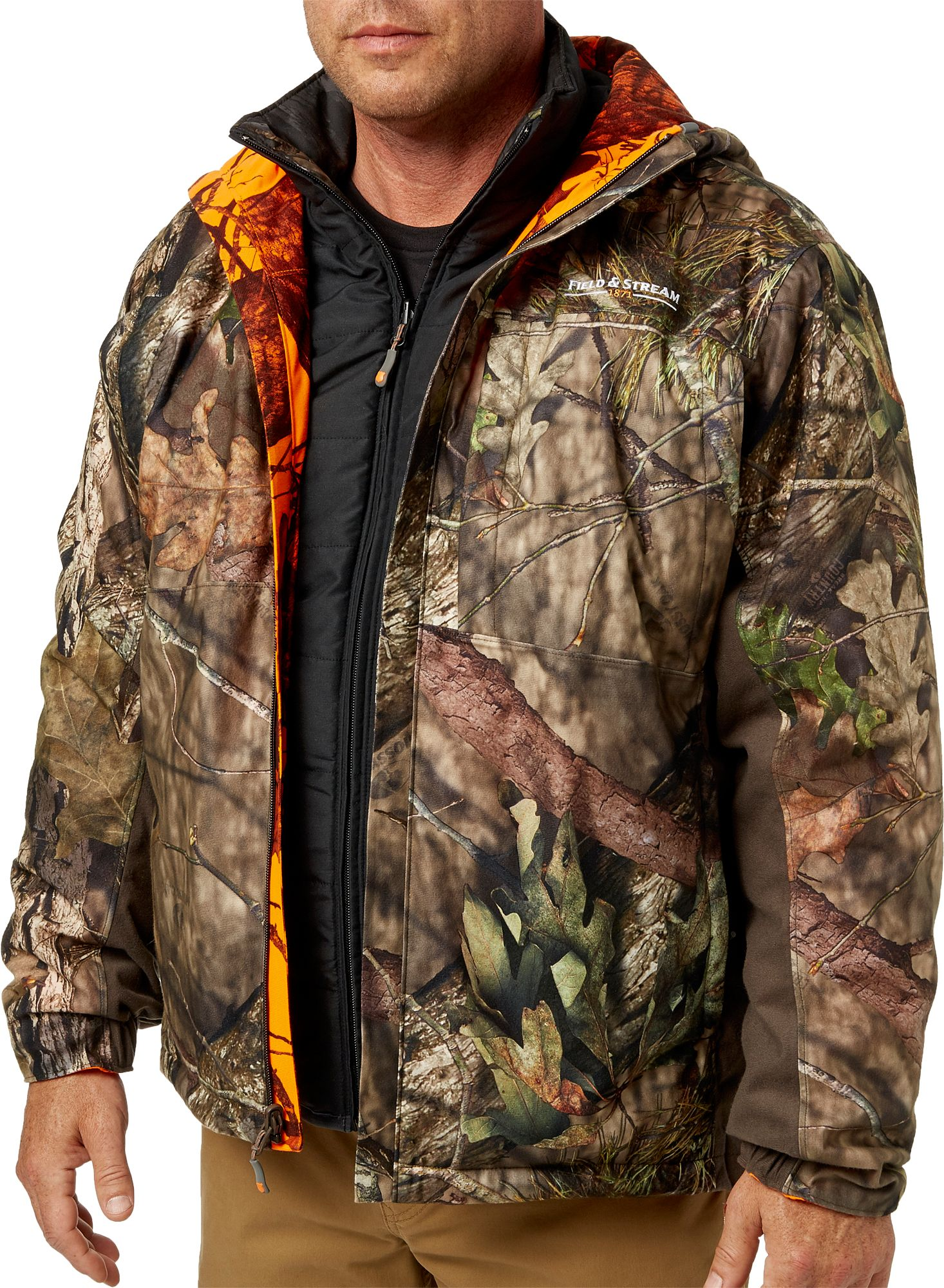 Field & Stream Men's Command Hunt 5 in 1 System Hunting Jacket, Size: Medium, Mossy Oak Country