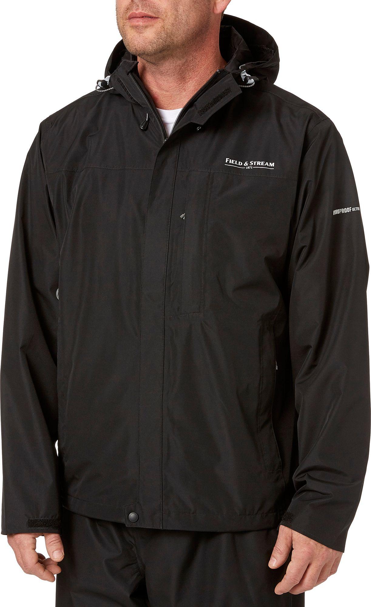 Field & Stream Men's Squall Defender Rain Jacket II, Medium, Black