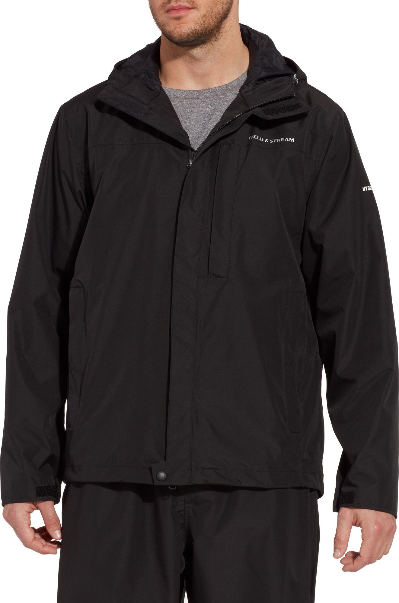 Field & Stream Men's Squall Defender Rain Jacket, Small, Black