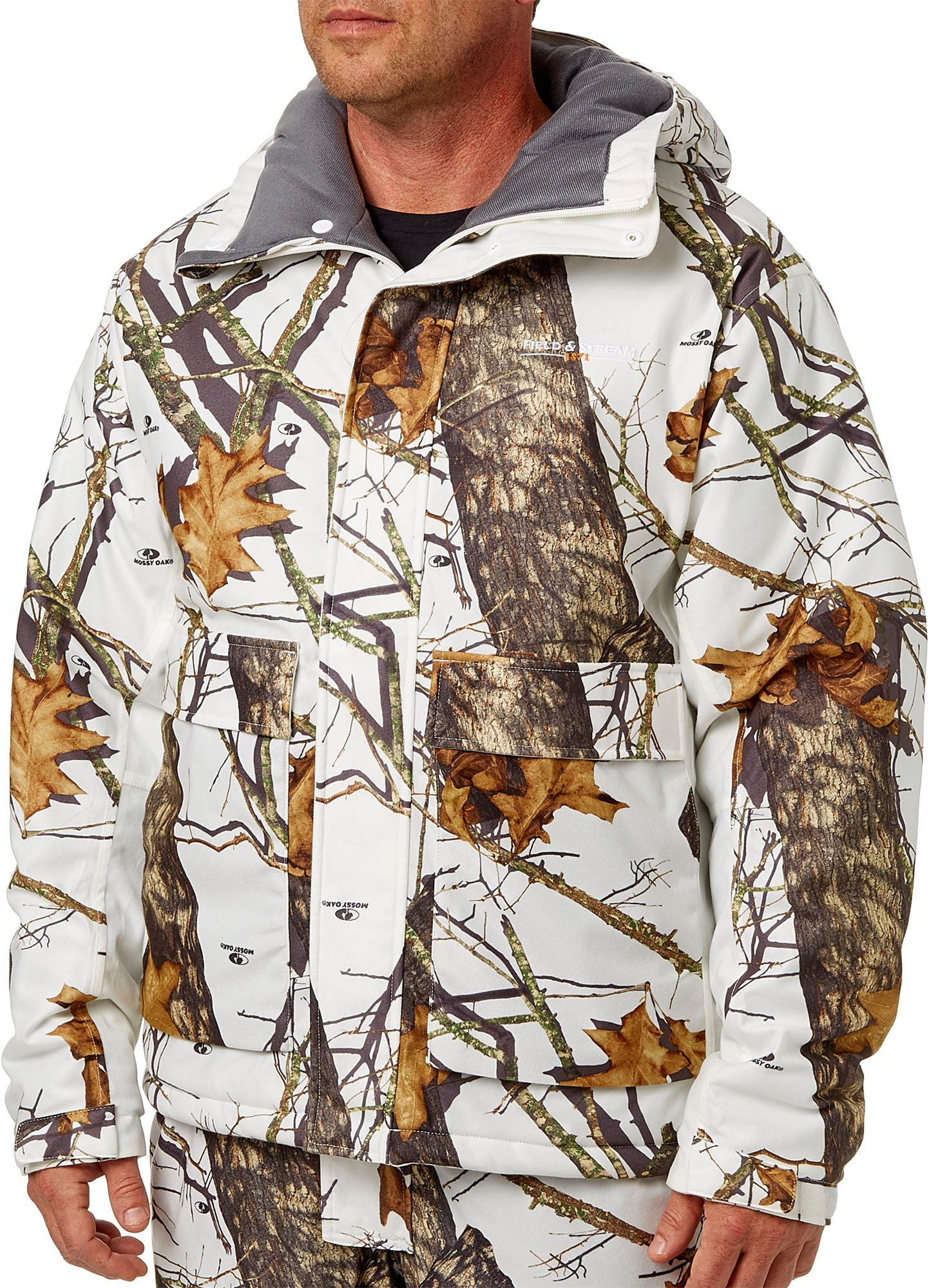 Field & Stream Men's True Pursuit Insulated Hunting Jacket, Medium, Mossy Oak Winter