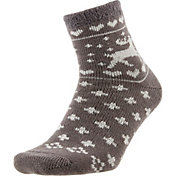 Field and Stream Women's Nordic Deer Cozy Cabin Crew Socks