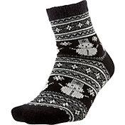 Field and Stream Women's Nordic Snowman Cozy Cabin Crew Socks