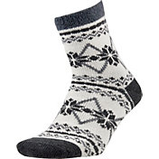 Field and Stream Women's Snowflake Nordic Cozy Cabin Crew Socks
