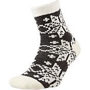 Field and Stream Women's Super Snowflake Cozy Cabin Crew Socks