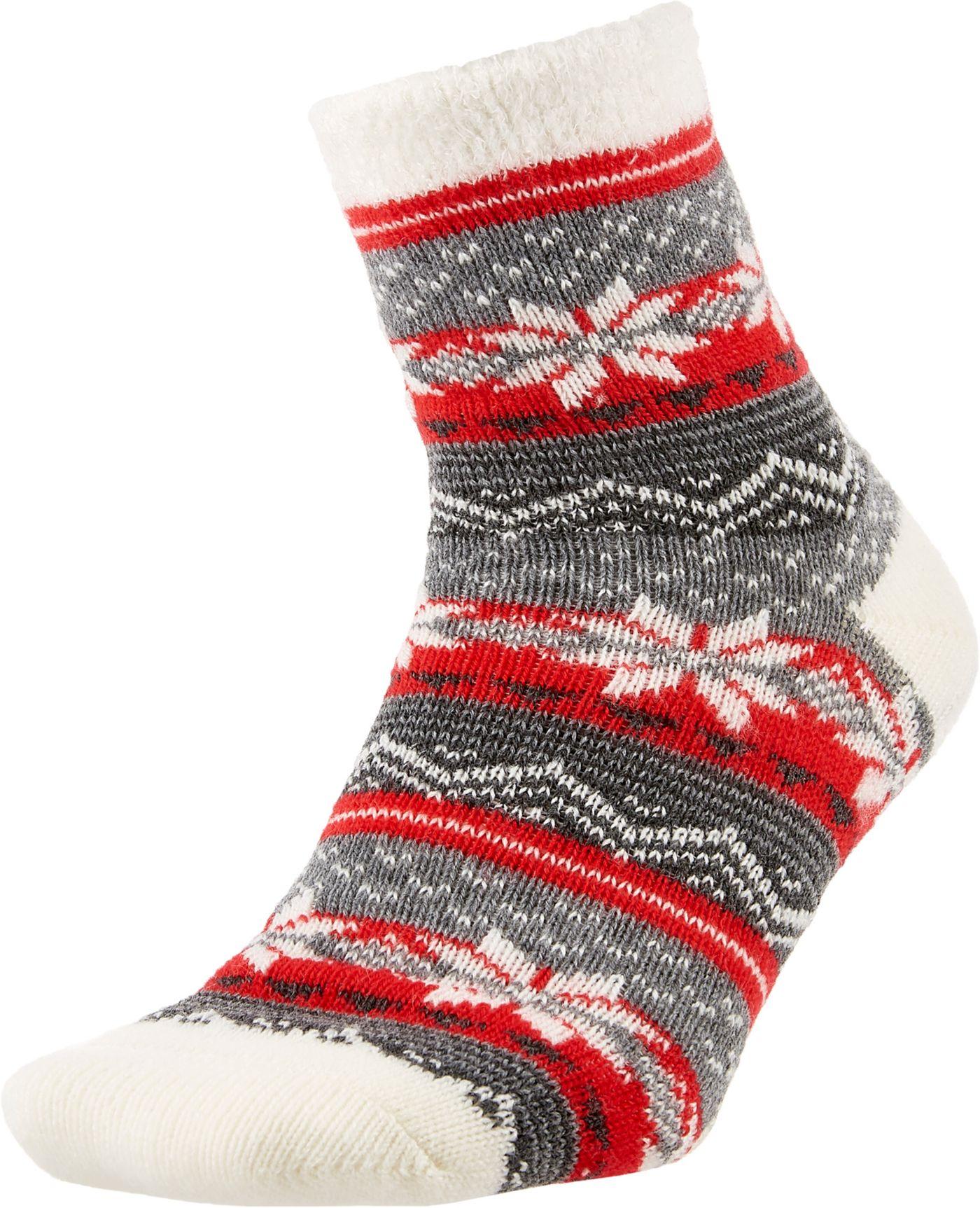 Field and Stream Women's Nordic Stripe Cozy Cabin Crew Socks