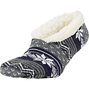 Field & Stream Women's Cozy Cabin Nordic Stripe Slipper Socks