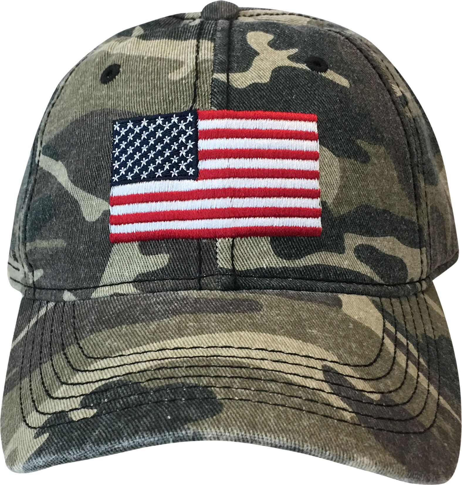 Field & Stream Women's Washed Americana Flag Hat, Camo