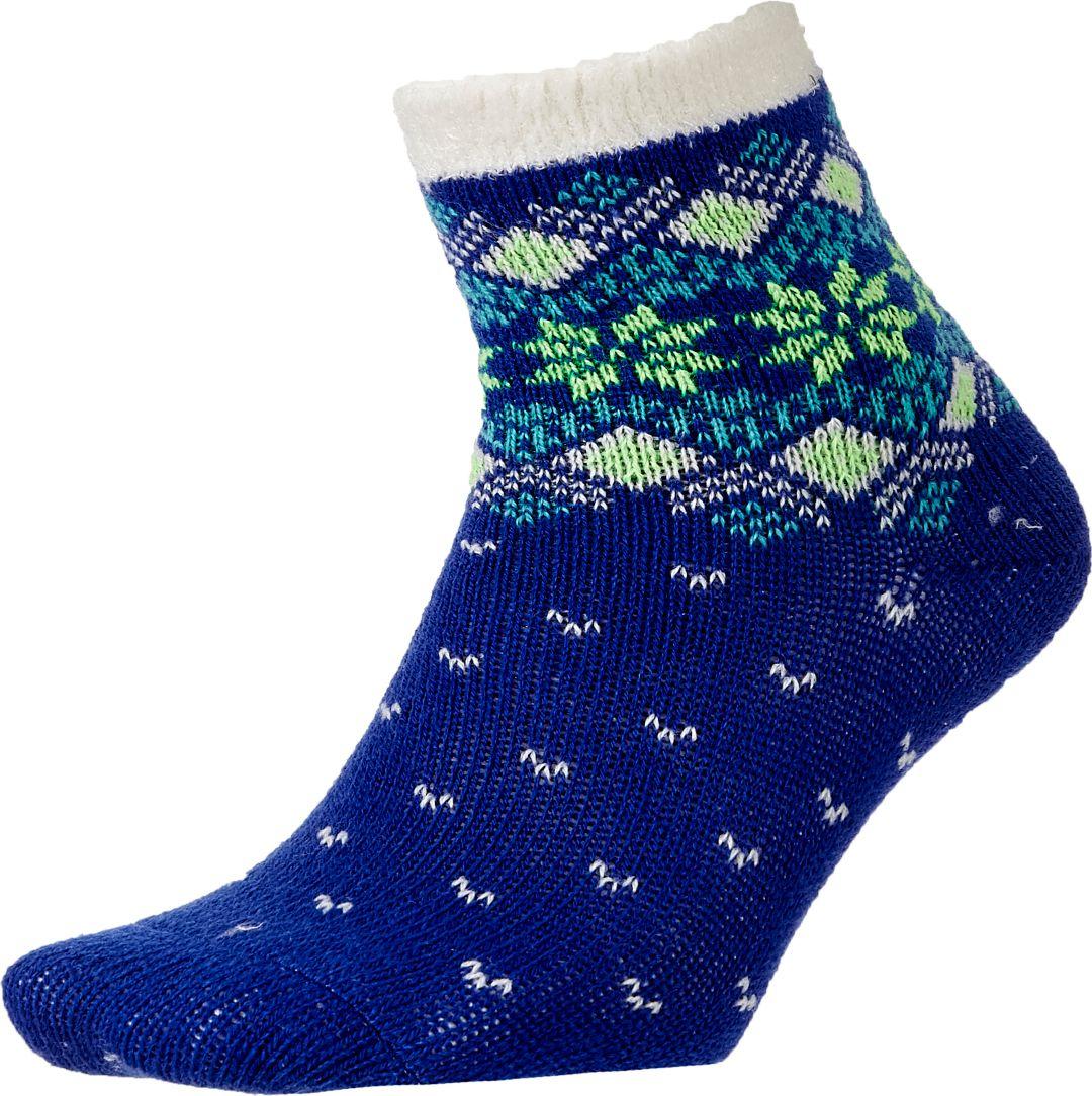 NEW Field /& Stream Womens Blue Cozy Cabin Socks Aloe Infused One Size