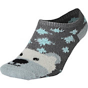 Field and Stream Youth Polar Bear Cozy Cabin Low Cut Socks