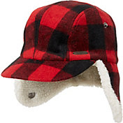 032a6fad6a758 Product Image Field   Stream Youth Plaid Ear Flap Trapper Hat. Red