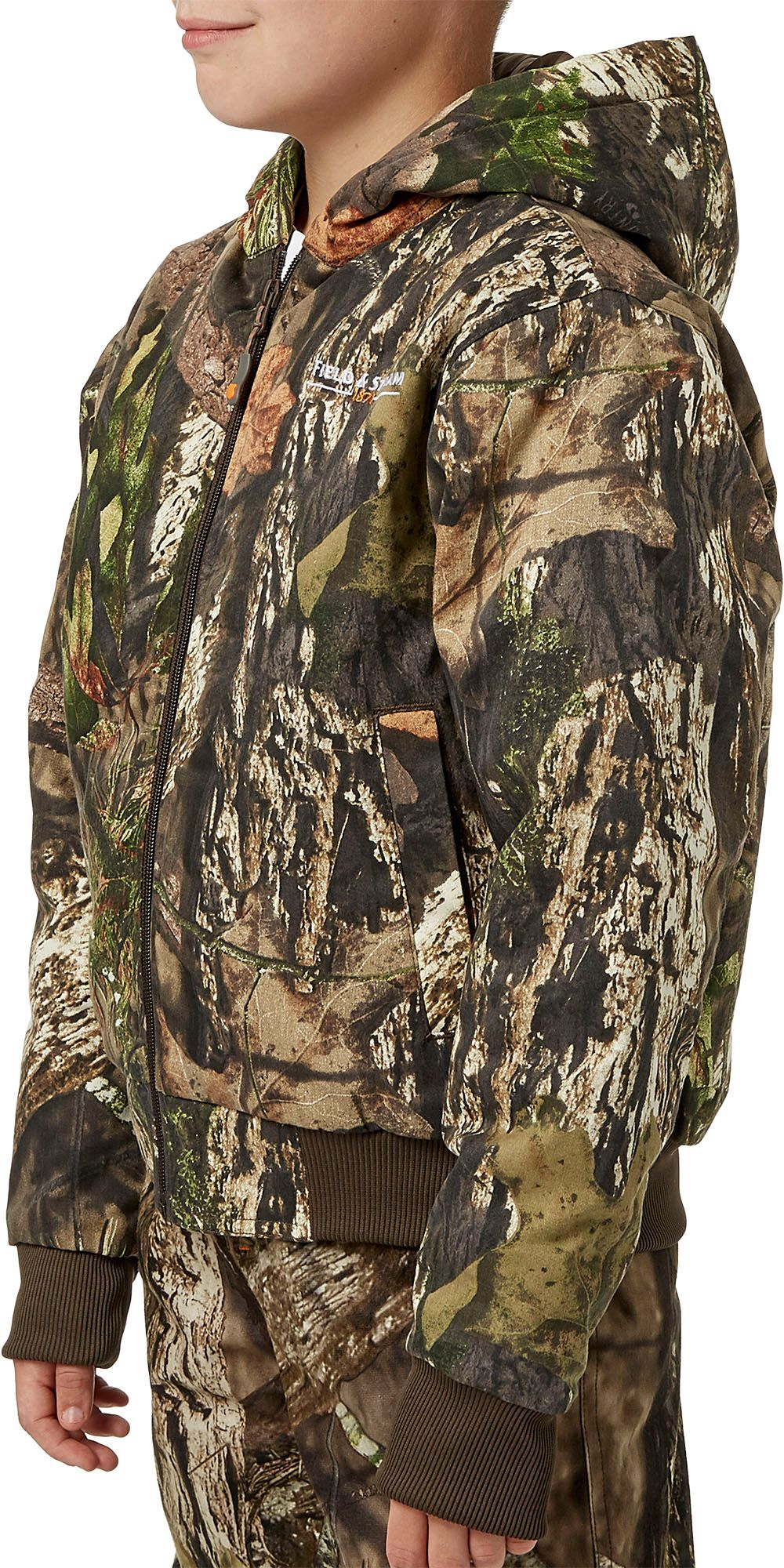Field & Stream Youth Twill Bomber Hunting Jacket, Kids, XL, Mossy Oak Country