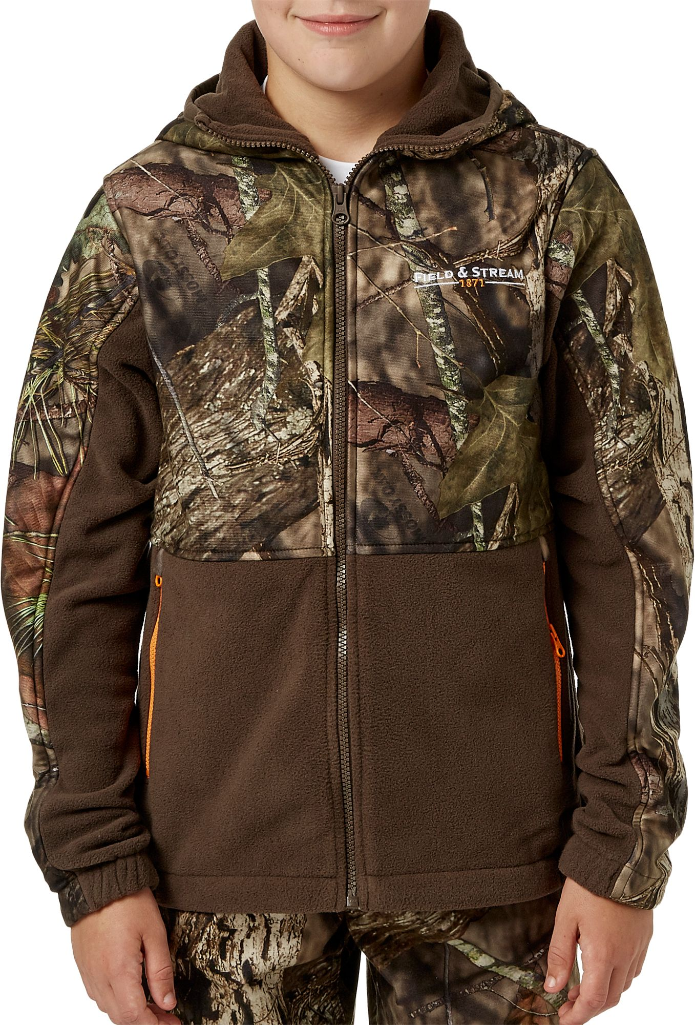 Field & Stream Youth Every Hunt Hooded Hunting Jacket, Kids, XL, Mossy Oak Country