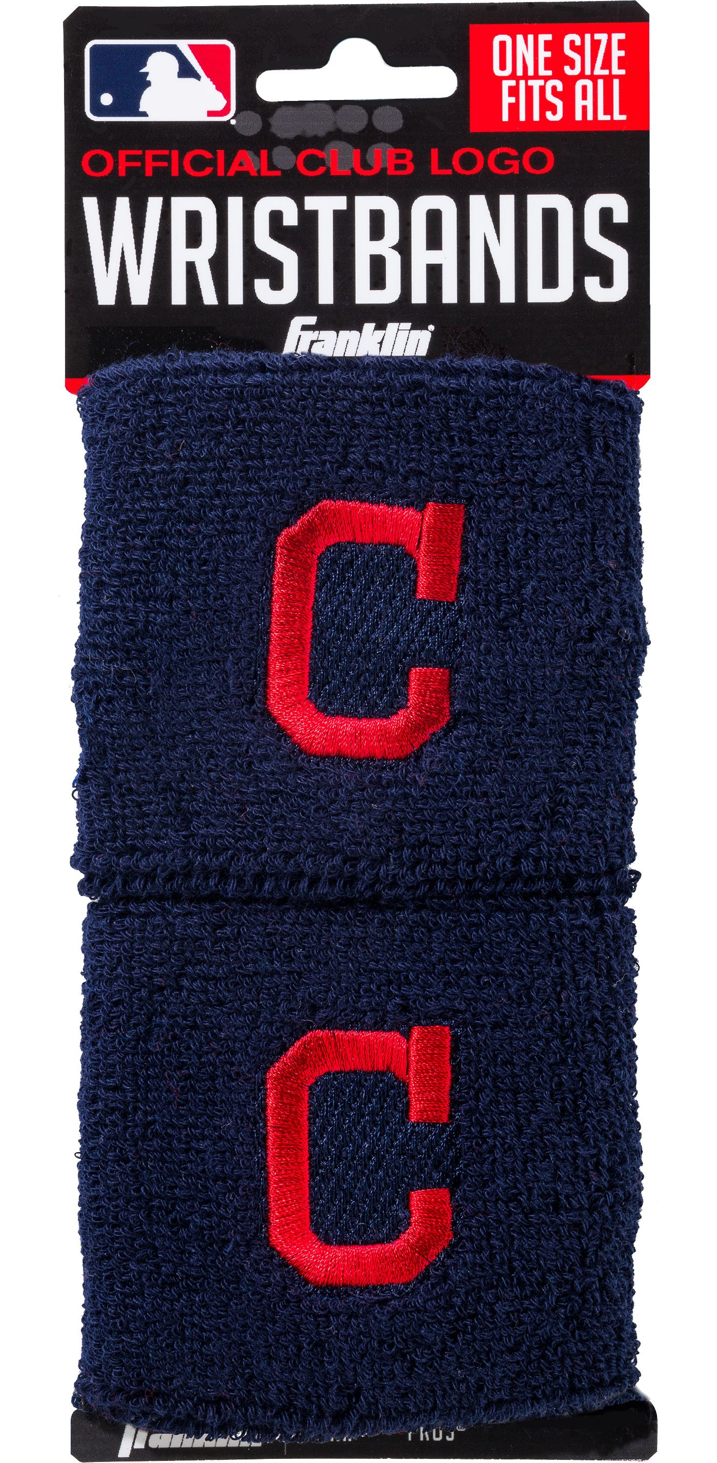 Franklin Cleveland Indians Embroidered Wristbands