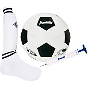 Franklin Youth Ball, Shin Guard Socks, and Pump Soccer Set
