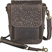 Gun Tote'n Mamas Distressed Leather Cross Body Satchel Concealed Carry Handbag