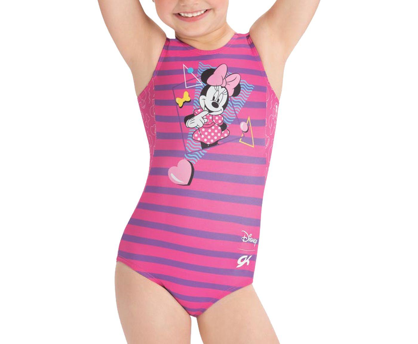 GK Elite Toddler Disney Minnie Mouse Retro Gymnastics Leotard