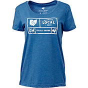 Locally Grown Women's Ohio Support Grid T-Shirt