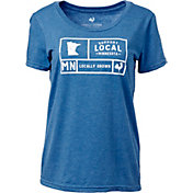 Locally Grown Women's Minnesota Support Grid T-Shirt