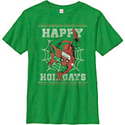 Fifth Sun Boys' Marvel Spider Holidays Graphic Tee