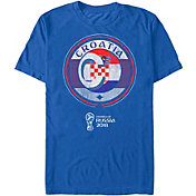 Fifth Sun Men's 2018 FIFA World Cup Croatia Contrast Round Blue T-Shirt