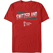 Fifth Sun Men's 2018 FIFA World Cup Switzerland Slanted Red T-Shirt