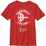 Fifth Sun Youth 2018 FIFA World Cup Denmark Contrast Round Red T-Shirt