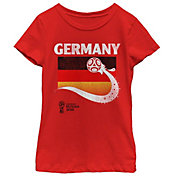 Fifth Sun Youth Girls' 2018 FIFA World Cup Germany Flag Ball Red T-Shirt