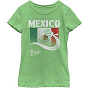 6b513597c Fifth Sun Youth Girls  2018 FIFA World Cup Mexico Flag Ball Green T-Shirt