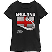 Fifth Sun Youth Girls' 2018 FIFA World Cup England Flag Ball Black T-Shirt