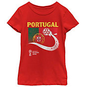 Fifth Sun Youth Girls' 2018 FIFA World Cup Portugal Flag Ball Red T-Shirt