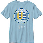 Fifth Sun Youth 2018 FIFA World Cup Uruguay Contrast Round Blue T-Shirt