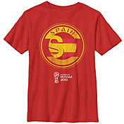 Fifth Sun Youth 2018 FIFA World Cup Spain Contrast Round Red T-Shirt