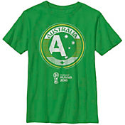 Fifth Sun Youth 2018 FIFA World Cup Austrailia Contrast Round Green T-Shirt