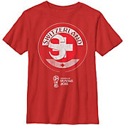 Fifth Sun Youth 2018 FIFA World Cup Switzerland Contrast Round Red T-Shirt