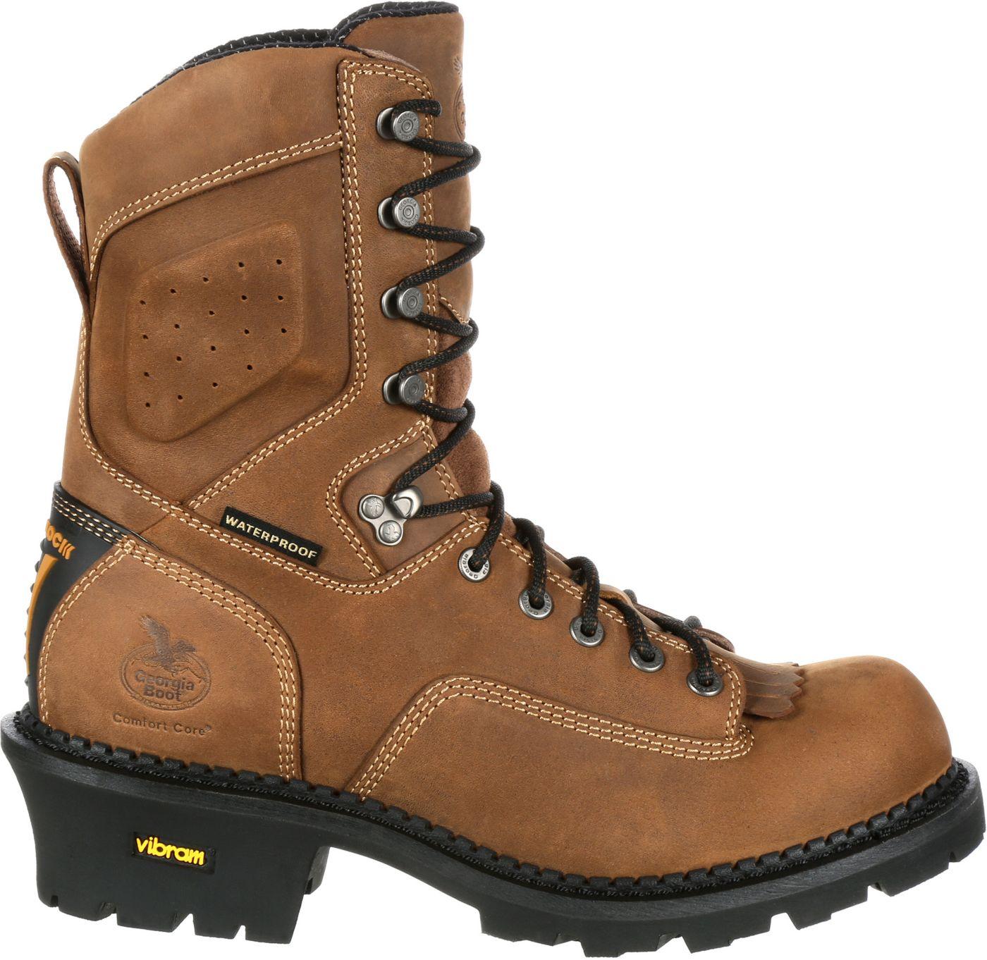 Georgia Boot Men's ComfortCore Logger EH Waterproof Composite Toe Work Boots