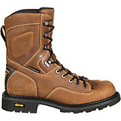 Georgia Boot Men's ComfortCore Low Heel Logger EH Waterproof Work Boots