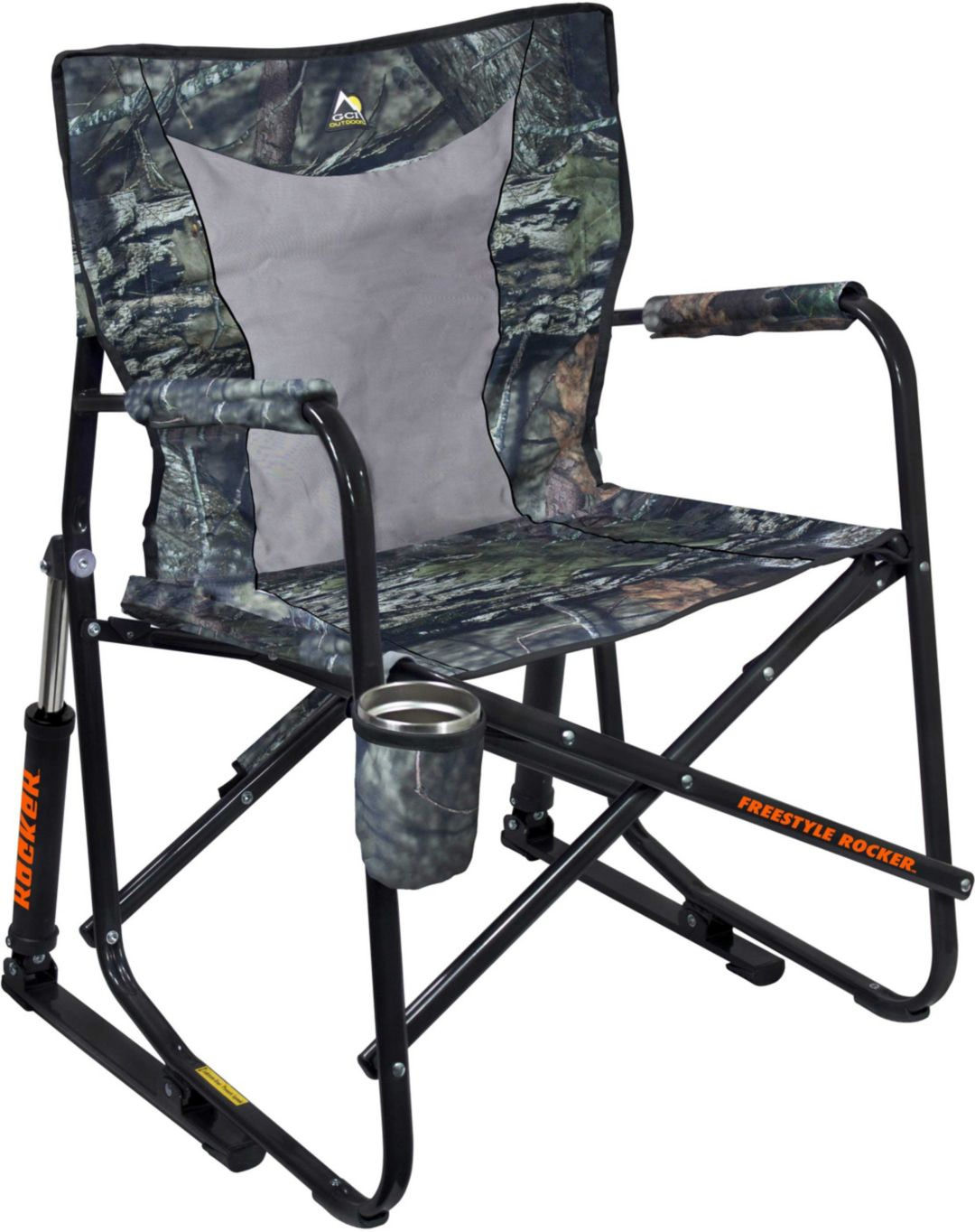 Peachy Gci Outdoor Mossy Oak Freestyle Rocker Mesh Chair Gmtry Best Dining Table And Chair Ideas Images Gmtryco
