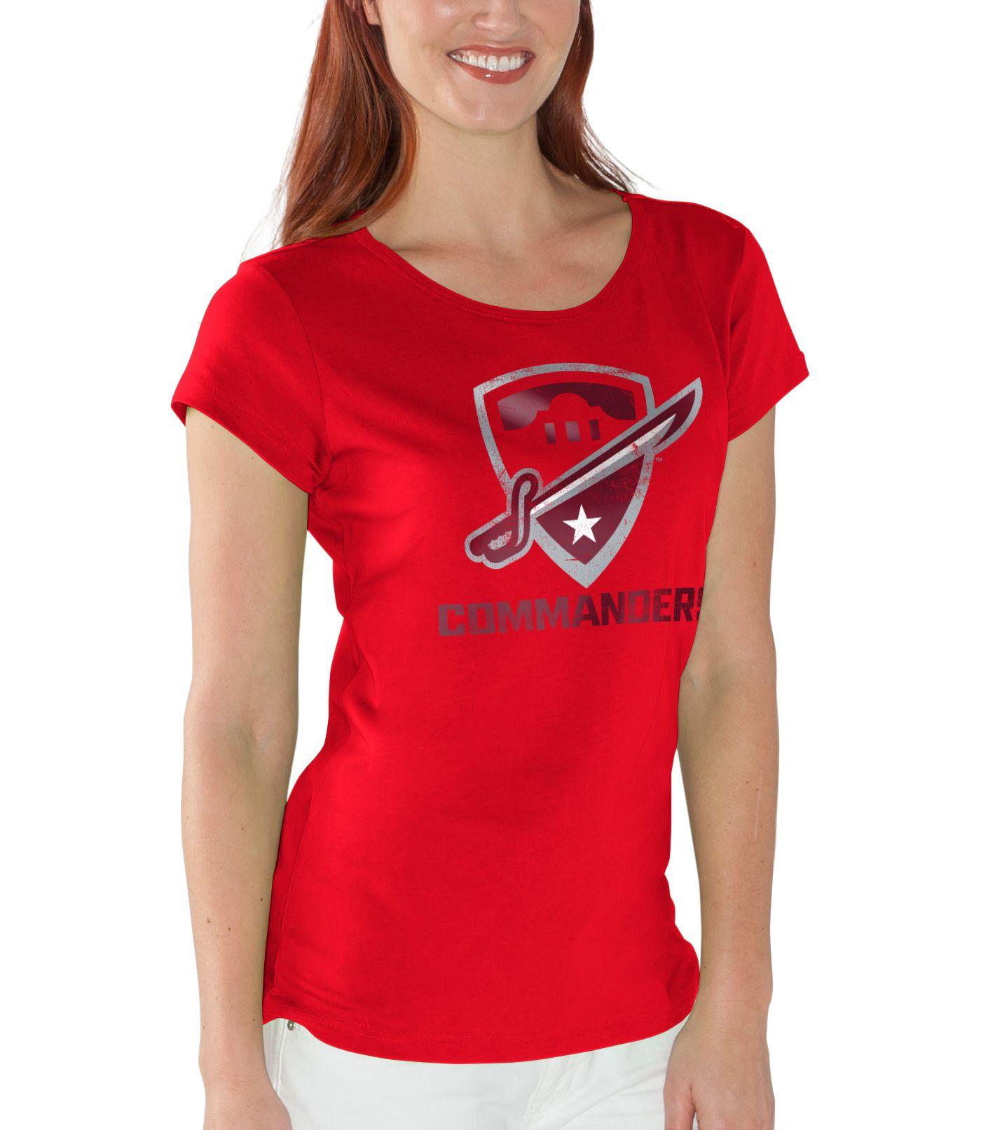 G-III For Her Women's San Antonio Commanders End Zone Red T-Shirt