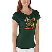 G-III For Her Women's Arizona Hotshots End Zone Green T-Shirt