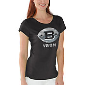 G-III For Her Women's Birmingham Iron End Zone Black T-Shirt