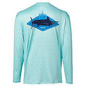 Guy Harvey Men's Kite Logo Long Sleeve Performance UVX Shirt