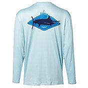 Guy Harvey Men's Kite Logo Long Sleeve Performance UVX Shirt
