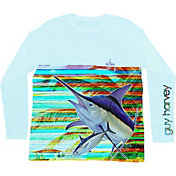 Guy Harvey Men's Lines Performance UVX Long Sleeve Shirt