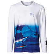 Guy Harvey Men's Skimming Performance UVX Long Sleeve Shirt