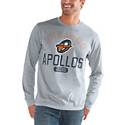 G-III Men's Orlando Apollos Halftime Grey Long Sleeve Shirt