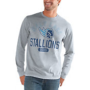 G-III Men's Salt Lake Stallions Halftime Grey Long Sleeve Shirt