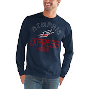 G-III Men's Memphis Express Halftime Navy Long Sleeve Shirt