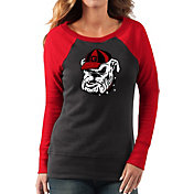 G-III For Her Women's Georgia Bulldogs Black/Red Top Ranking Tunic