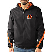 G-III Men's Cincinnati Bengals Endzone Black Full-Zip Jacket