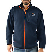 G-III Men's Denver Broncos Routine Navy Full-Zip Jacket